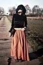 Velvet-zaful-top-orange-zaful-skirt