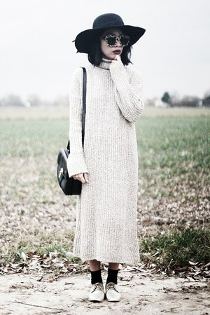 chunky sweater sammydress dress - floppy black zaful hat