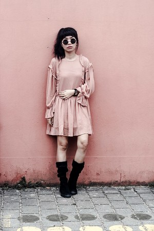 nude pink zaful dress
