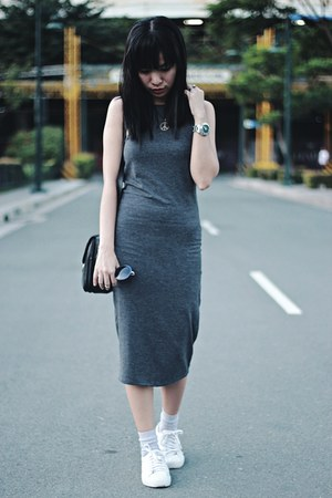 dark gray Forever 21 dress - dark gray Forever 21 sunglasses