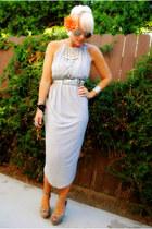 silver Style Nanda dress - silver Steve Madden heels