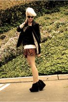 orange H&M skirt - white Target shirt - black Target shirt - black Necessary Obj