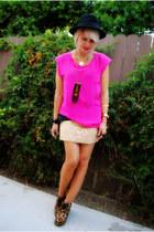 RVCA t-shirt - Steve Madden boots - cynthia rowley shirt - f21 skirt