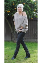 Alice & Olivia for Payless boots - H&M sweater - black H&M pants