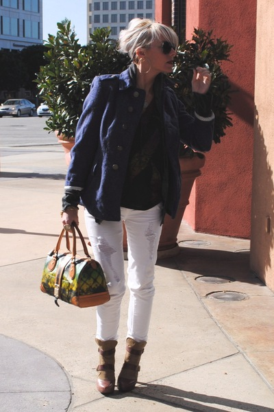 brown Faryl Robin boots - white Machine jeans