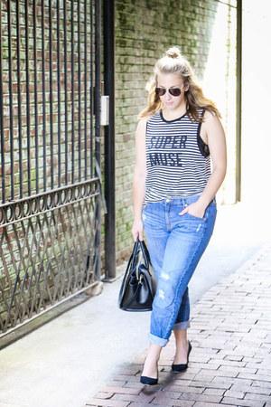Marshalls top - Target jeans - Valentino bag - H&M heels