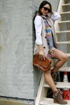 vintage sunglasses - Steve Madden boots - Uniqlo shirt - vintage Celine purse