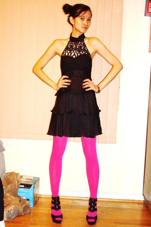 Forever 21 dress - Macys leggings - Steve Madden shoes