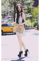 booties Steve Madden boots - lace Zara dress