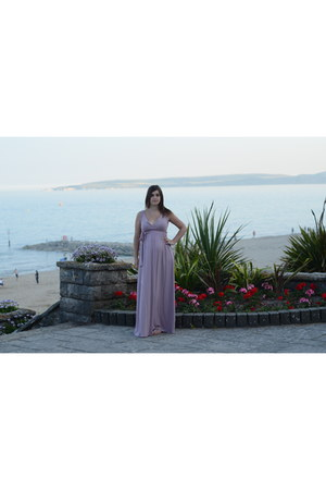 pink maxi maternity asos dress