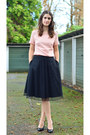 Light-pink-sheer-fever-london-top-black-lace-fever-london-skirt