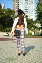 black checkered Topshop pants