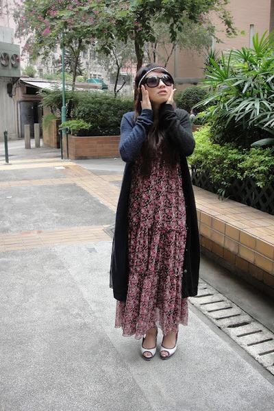 maxi dress vintage dress - Katie Judith cardigan