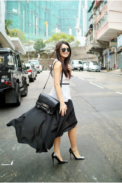 black Theory dress - black ps11 PROENZA SCHOULER bag