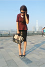 Brick-red-peplum-h-m-top-black-marc-by-marc-jacobs-bag