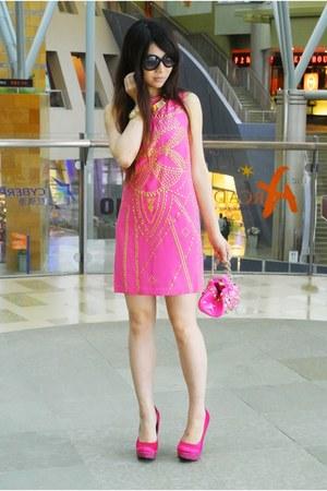 gold Versace for H&M bracelet - hot pink Versace for H&M dress