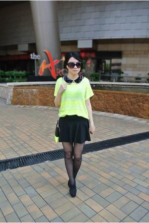 neon Forever 21 top - American Apparel skirt