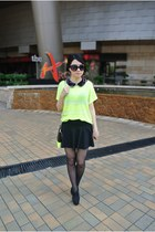 neon Forever 21 top - American Apparel skirt