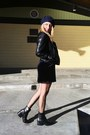 Leather-sam-edelman-boots-velvet-zara-dress-wool-zara-hat
