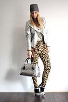 silver Zara jacket - camel H&M shirt - silver Nahui Ollin bag