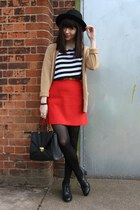 red skirt - t-shirt