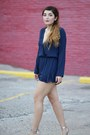 Navy-playsuit-princess-polly-romper-silver-pointy-zara-heels