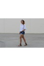 White-cropped-zara-shirt-navy-diy-vintage-shorts