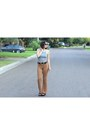 Heather-gray-knit-brandy-melville-top-nude-knitted-forever-21-pants