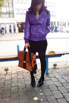 Review jacket - H&M dress - H&M sweater - turkish store shoes - vintage boutique