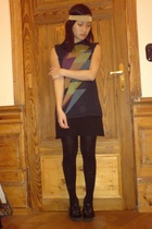 t-shirt - American Apparel dress - H&M shoes - H&M tights