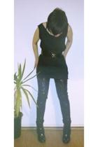 H&M tights - aa dress - Primark belt - Primark shoes