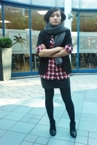H&M scarf - H&M shirt - H&M blazer - American Apparel skirt