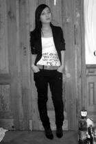H&M blazer - H&M shirt - H&M pants - belt - H&M