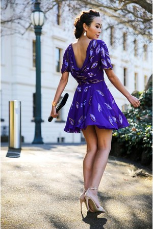 deep purple sequins virgos lounge dress
