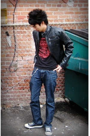 American Rag jacket - shirt - Express Men jeans - Converse shoes