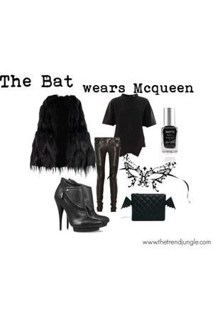 black Alexander McQueen boots