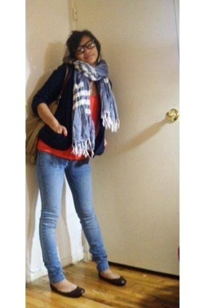 American Eagle blazer - American Eagle accessories - forever 21 top - PacSun jea