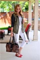 leopard print Aldo bag - boyfriend jeans American Eagle jeans