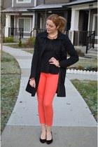 coral the gap jeans - peplum studded Reitmans shirt - Aldo heels
