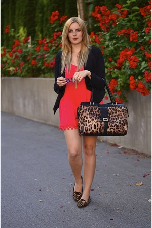 red crochet Forever 21 romper - black blazer Similar jacket