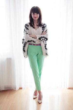 H&M shirt - Yesfor sweater - H&M pants - deezee pumps - H&M belt