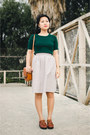 Forest-green-knit-larmoni-top-silver-floral-larmoni-skirt