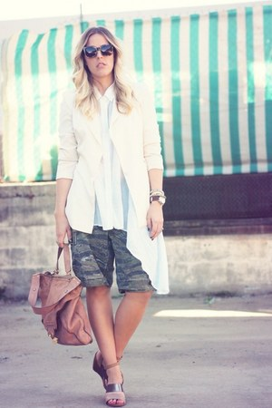 Lovers & Friends blazer - Kooba bag - vintage shorts - Karen Walker sunglasses