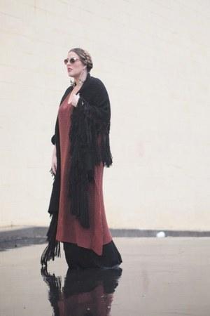 brown crossroads dress - black crossroads dress - black Nordstrom scarf