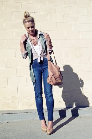banana republic vest - Urban Outfitters jeans - Kooba bag - Aldo pumps