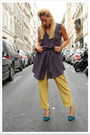 Gray-quiksilver-women-dress-green-vintage-pants-blue-vintage-shoes-gold-zi