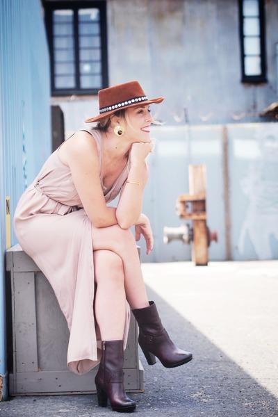 Clarks boots - modcloth dress
