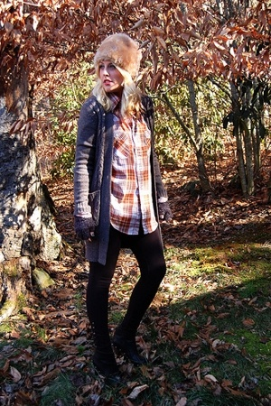 vintage hat - sweater - shirt - MNG pants - Jeffrey Campbell boots - Urban Outfi
