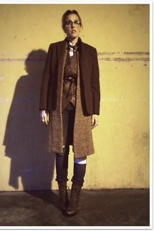brown Jessica Simpson boots - blue Quiksilver Girls jeans - dark brown crossroad