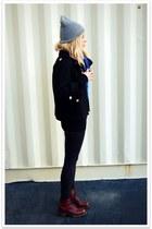 black Crossroads Trading Co jacket - black American Apparel leggings - crimson v